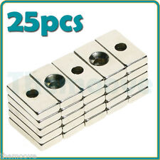 25PCS N35 Small 20x10x4mm Super Strong Cuboid Magnet Block Rare Earth Neodymium
