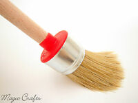 20 25 30 35 40 45 50 60 CHALK PAINT WAX PURE BRISTLE ROUND BRUSHES SHABBY CHIC