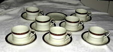 Mikasa Grande Ivory Aramis L5513 SEVEN Cups & EIGHT Saucers - excellent