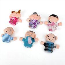 6 Burattini Pupazzi Marionette da Dita Figura Umana Famiglia C9L3