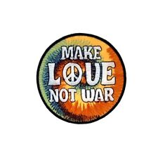Make Love Not War Iron On Patch Hippie Hippy Pacafist Badge/Applique/Transfer Se