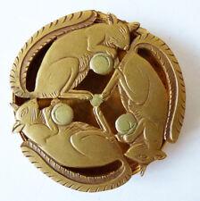 boite en métal doré à décor d'écureuil ART DECO squirrel box