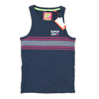 Superdry Mens Tank Top T Shirt Sleeveless Blue Pink Striped Variety Sizes
