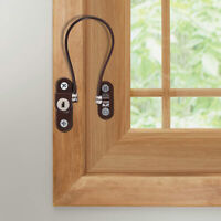 Window Door Restrictor White Lockable Child Baby Security Safety Wire Cable FI