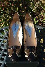 Emporio Armani Charol Vestido Tribunal Zapatos 38.5/5.5