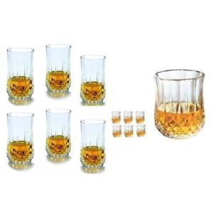 Set of 12 Premium Quality Diamond Crystal Glassware Drinking Glass Gift Set