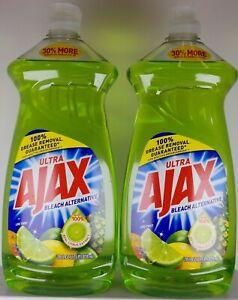 (2-PACK) AJAX Ultra Bleach Alternative Dish Liquid, Tropical Lime Twist 28 oz ea