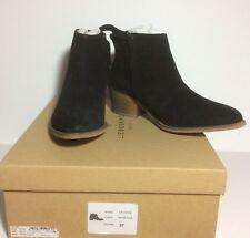 NIB Liebeskind Berlin $268 Ladies Zip Black Suede Boot Sz 37 US 7