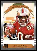 2019 DONRUSS ALL-TIME GRIDIRON KINGS JERRY RICE 49ERS #AGK-8 INSERT