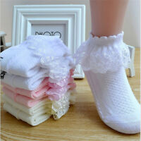 Toddler baby girls princess bowknot sock kids lace ruffle ankle socks lov F/_US