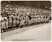 Negro League 1944 All Star Game East vs West Player Intro 8 X 10 Photo Picture