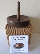 JOHN McCARTHY WOOD TURNER NOHOVAL, CO.CORK, WALNUT RING HOLDER SIGNED BOXED/NEW.