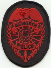 ACWORTH GEORGIA GA POLICE PATCH