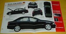 94 96 97 1995 Mercedes Benz C36 AMG 6 Cylinder 3606cc IMP Info/Specs/Photo 15x9
