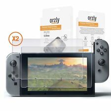 Screen Protector Nintendo Switch Orzly Premium Tempered Glass 0.24mm Screen***<>