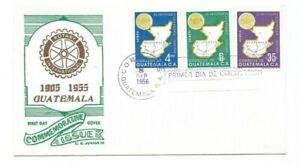 L7310 GUATEMALA ROTARY INTERNATIONAL FDC 1956 MAPS