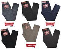 Pantalone uomo jeans cotone CARRERA taglia 48 50 52 54 56 58 60 62 leggero NERO