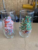Coca Cola Glass -Series 2 - # 3 of 3 Vintage Coke Cups Plus Christmas Tree Glass
