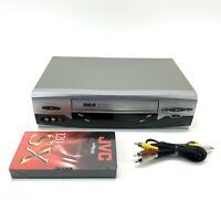 RCA VR651HF 4 Head VCR VHS Player Accu-Search No Remote, Include VHS Tape & Cord