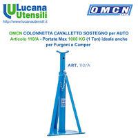 OMCN COLONNETTA CAVALLETTO SOSTEGNO AUTO Art 110/A Portata 1 Ton Furgone Camper