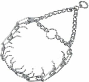 "Herm Sprenger Chrome Plated Prong Training Collar L16""x 2.25mm, L23""x 3.25mm"