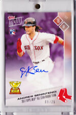 Andrew Benintendi Autograph 2017 Topps NOW All-Star Rookie Team AUTO 09/25 RC