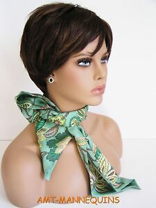 Female lifesize head, Displays wig hat scarves jewelry, Hand made mannequn- FOO