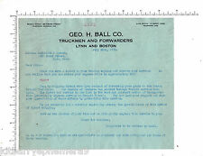 4446 George H. Ball truck delivery 1915 letterhead Bacheller & Spence, Lynn, Ma