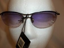NEW SOLNEX LADIES COOL SUNGLASSES PURPLE LEN'S 1/2 FRAME MAXIMUM UV PROTECTION