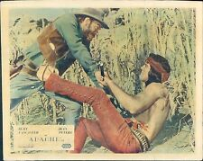 APACHE LOBBY CARD BURT LANCASTER FIGHTS WITH COWBOY