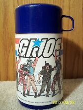 Vintage G.I. Joe Thermos 1985 Yo Joe Metal Lunchbox Hasbro Cobra Duke Hawk Dusty