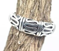 Handmade Traditional Bali Sterling Silver 925 Swirl Promise Band Ring Sz 6,7,8,9