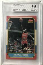 michael jordan 1986 fleer rookie card RC BGS 3.5 PSA Chicago Bulls 23