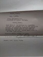 Rare A.T. Stewart letter to President of Bulter college 1931
