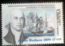 DOMINICA SERIES AMERICAN PRESIDENTS JAMES MADISON 1v. MINT ** MNH