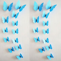 12 PCS DIY 3D Butterfly Wall Sticker Magnet Party Eeveryday Home Decor Art Decal