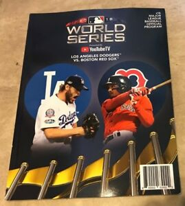2018 World Series Program Red Sox vs Dodgers shipped in a box COVER WEAR DENTS