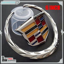6 Inch Front Grille Grill Emblem Hood Symbol Ornament Replacement For Cadillac (Fits: Cadillac)