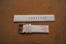 NEW BENCH WHITE WITH PINK STITCHING  WATCH STRAP  18MM