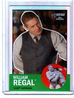 WWE William Regal #49 2007 Topps Heritage II Chrome Refractor Insert Card