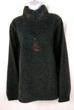 Victoria's Secret Womens 1/2 Zip Country Fleece Size Large Pullover Sweater Gray