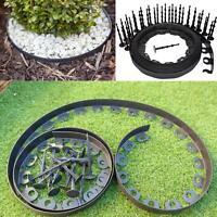Garden Flexible Edging Lawn Edge Grass Border Palisade 10m 30 Peg// 78mm Height