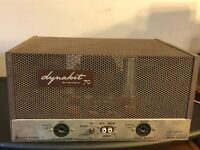 Dynaco Stereo 70 Tube Amplifier w/ Cage - Works w/ slight hum, no tubes