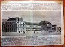 MILANO FERROVIE STAZIONE CENTRALE GRANDE XILOGRAFIA EMPORIO PITTORESCO 1860