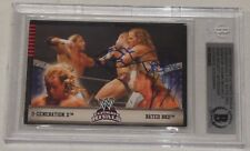 Shawn Michaels & Edge Signed 2008 Topps Wwe Ultimate Rivals Card Bas Beckett Coa