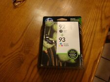 new hp ink cartridge 92 (black)+ 93 (tri-color)  EXP 8/2017 Fast Ship