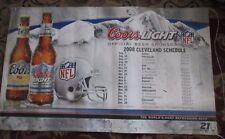 Coors & Coors Light Cleveland Browns NFL 2008 Schedule Bar Banner 36 x 60
