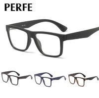 Men's TR90 Square Optical Glasses Clear Lens Retro Myopia Glasses Frame RX able