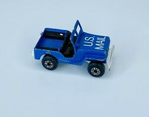 US Mail Jeep Lesney Matchbox 1976 #11 Sleet And Snow Made In England