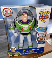 "Disney-Pixar Toy Story 4 Buzz Lightyear Talking Action Figure 12""  20 Sounds 🔥"